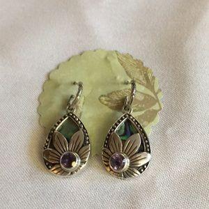Abalone amethyst earrings